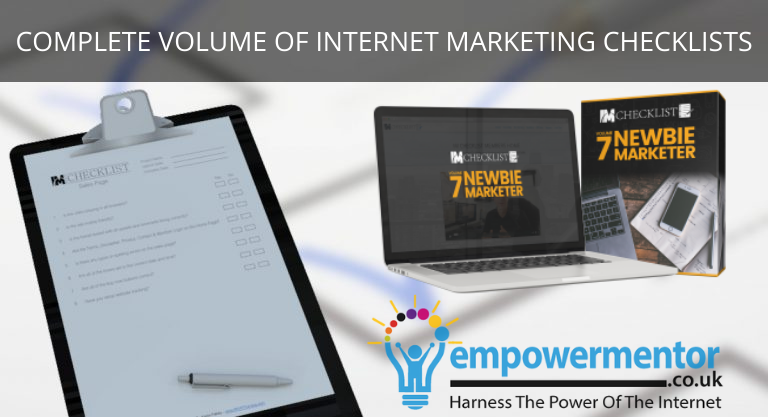 Complete Volume Of Internet Marketing Checklists